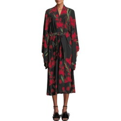 Rose-Print Mid-calf Robe found on MODAPINS from Bergdorf Goodman for USD $295.00