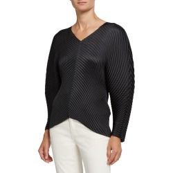 Pleated Solid V-Neck Top found on Bargain Bro India from Bergdorf Goodman for $695.00