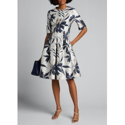 Leaf-Print Jacquard Cocktail Dress found on MODAPINS from Bergdorf Goodman for USD $460.00