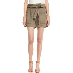 Daynna Belted Linen Cargo Shorts found on MODAPINS from Bergdorf Goodman for USD $74.00