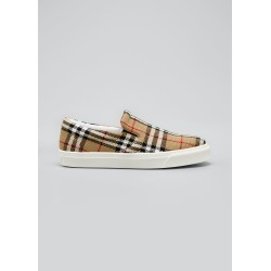 Men's Thompson Vintage Check Slip-On Sneakers found on Bargain Bro Philippines from Bergdorf Goodman for $590.00