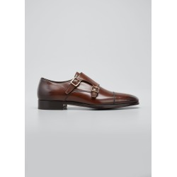 Men's Double-Monk Strap Leather Loafers found on Bargain Bro India from Bergdorf Goodman for $1990.00