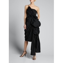 Ruched Feather-Trim Cocktail Dress found on MODAPINS from Bergdorf Goodman for USD $1449.00