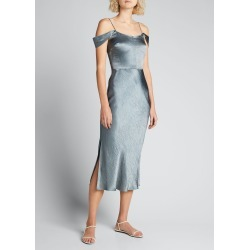 Cold-Shoulder Satin Cocktail Dress found on MODAPINS from Bergdorf Goodman for USD $345.00