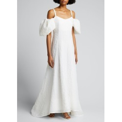 Lily Embroidered Cold-Shoulder Gown found on MODAPINS from Bergdorf Goodman for USD $998.00