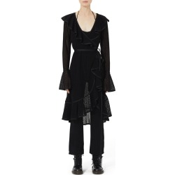 Spotted-Lace Ruffle Wrap Dress found on MODAPINS from Bergdorf Goodman for USD $950.00