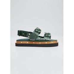 Alix Croco Flatform Sandals found on MODAPINS from Bergdorf Goodman for USD $278.00