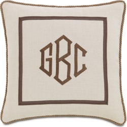 Vivo Bisque Pillow with Monogram