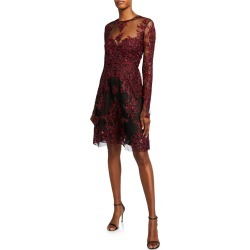 Embroidered Illusion Cocktail Dress found on MODAPINS from Bergdorf Goodman for USD $1438.00
