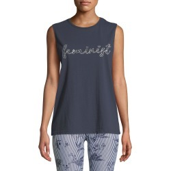 Feminist Embroidered Cotton Muscle Tank
