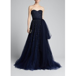 Embroidered Tulle Strapless Gown found on MODAPINS from Bergdorf Goodman for USD $6990.00