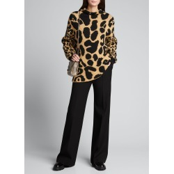Leopard-Print Mock-Neck Sweater found on Bargain Bro Philippines from Bergdorf Goodman for $975.00