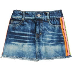 Girl's Denim Skirt with Neon Taping, Size S-XL found on Bargain Bro India from Bergdorf Goodman for $30.00