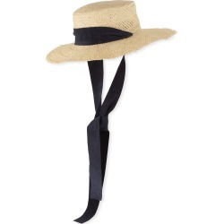 Nina Straw Sun Hat w/ Pull-Through Scarf found on Bargain Bro Philippines from Bergdorf Goodman for $280.00