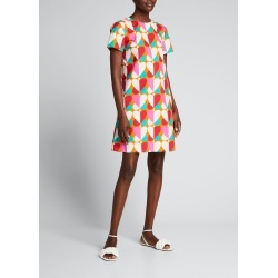 Abstract Heart-Print Mini Swing Dress found on MODAPINS from Bergdorf Goodman for USD $435.00