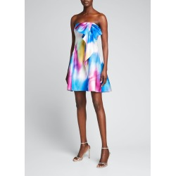 Draped-Bow Printed Strapless Dress found on MODAPINS from Bergdorf Goodman for USD $595.00