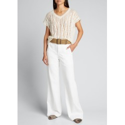 Cable-Knit Open Sweater w/ Contrast Trim found on Bargain Bro India from Bergdorf Goodman for $1250.00
