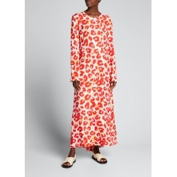 Watercolor Leopard Maxi Dress found on MODAPINS from Bergdorf Goodman for USD $1890.00