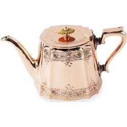 Copper & Silver Coffee/Tea Pot #1 (Late 19th Century)