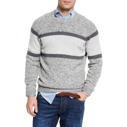 Striped Donegal Crewneck Sweater, Gray found on Bargain Bro Philippines from Bergdorf Goodman for $530.00