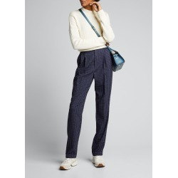 Andela Checked Wool Straight-Leg Pants found on Bargain Bro India from Bergdorf Goodman for $397.00