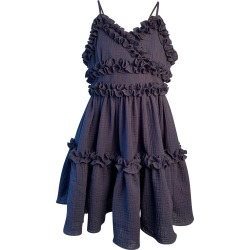 Girl's Laundered Ruffle Trim Sun Dress, Size 7-14 found on Bargain Bro India from Bergdorf Goodman for $91.00