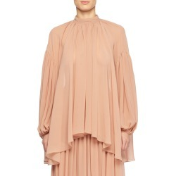 High-Neck Long-Sleeve Silk Peasant Blouse found on Bargain Bro Philippines from Bergdorf Goodman for $448.00