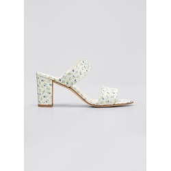 Kalita Embroidered Flower Slide Sandals found on MODAPINS from Bergdorf Goodman for USD $775.00