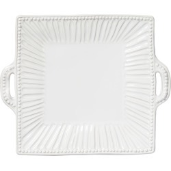 Incanto Stone Stripe Square Handled Platter, White found on Bargain Bro Philippines from Bergdorf Goodman for $154.00