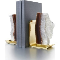 Fim Agate Druzy & Natural Brass Bookends found on Bargain Bro India from Bergdorf Goodman for $295.00