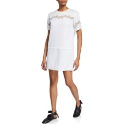 Short-Sleeve Lace-Inset T-Shirt Dress found on MODAPINS from Bergdorf Goodman for USD $395.00