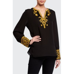 Hope Embroidered Silk Blouse found on MODAPINS from Bergdorf Goodman for USD $152.00