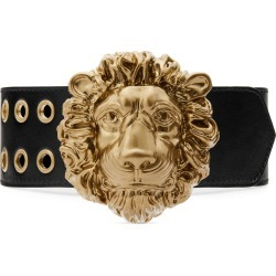 Lions Head Wide Leather Belt