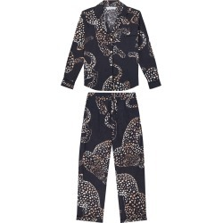 The Navy Jag Print Cotton Long Pajama Set found on Bargain Bro Philippines from Bergdorf Goodman for $180.00