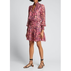 Silvie Smocked Floral Dress found on MODAPINS from Bergdorf Goodman for USD $495.00