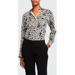 Zora Cheetah Print Silk Button-Down Blouse found on Bargain Bro Philippines from Bergdorf Goodman for $233.00