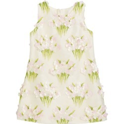 Girl's Bouquet Floral Applique Sleeveless Dress, Size 4-6X found on Bargain Bro India from Bergdorf Goodman for $130.00