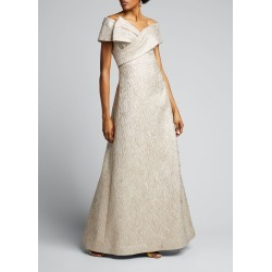 Off-the-Shoulder Brocade A-Line Gown found on Bargain Bro India from Bergdorf Goodman for $651.00