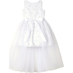 Short Lace Dress w/ Open Tulle Front Overlay, Size 7-16 found on Bargain Bro Philippines from Bergdorf Goodman for $250.00
