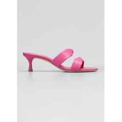 Pallera Dual-Bow Slide Heel Sandals found on MODAPINS from Bergdorf Goodman for USD $695.00