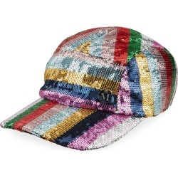 Nell Stripe Sequined Baseball Cap found on Bargain Bro India from Bergdorf Goodman for $660.00