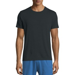 Crewneck Short-Sleeve Knit Tee, Anthracite