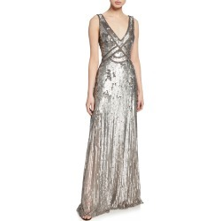 Sleeveless Sequined V-Neck Gown found on MODAPINS from Bergdorf Goodman for USD $3360.00