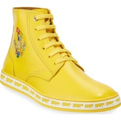 Men's Alpistar Leather High-Top Sneakers, Yellow found on Bargain Bro Philippines from Bergdorf Goodman for $495.00