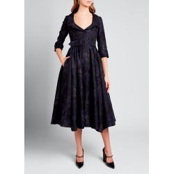 Brocade Belled Belted Midi Dress found on Bargain Bro Philippines from Bergdorf Goodman for $3840.00