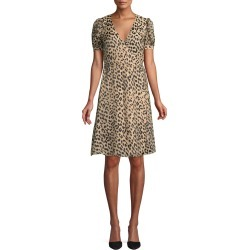 Rosette Leopard-Print Wrap Dress found on MODAPINS from Bergdorf Goodman for USD $171.00
