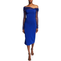 Off-the-Shoulder Tulle Bodycon Dress found on MODAPINS from Bergdorf Goodman for USD $1495.00