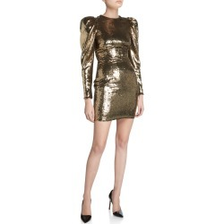 Sequined Puff-Sleeve Mini Dress found on Bargain Bro India from Bergdorf Goodman for $1170.00