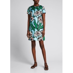 Floral-Print Mini Short-Sleeve Swing Dress found on MODAPINS from Bergdorf Goodman for USD $520.00