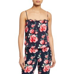 Lace Straight-Neck Floral Cami found on Bargain Bro Philippines from Bergdorf Goodman for $71.00